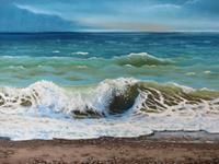 Kerstin-Birk-Landscapes-Sea-Ocean-Landscapes-Summer-Modern-Times-Realism