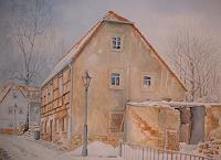 Kerstin-Birk-Buildings-Houses-Landscapes-Winter-Modern-Times-Realism