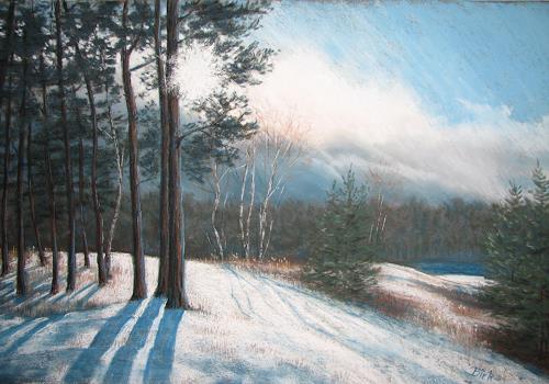 Kerstin Birk, Kiesgrube im Schnee, Landscapes: Winter, Times: Winter, Realism, Expressionism