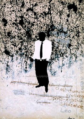 Damilola Oshilaja, White Collar Man, Abstract art, Miscellaneous People, Contemporary Art, Abstract Expressionism