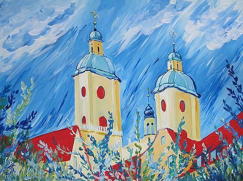 Irene Varga, Klostertürme beim Fladepärkli, Buildings: Churches, Miscellaneous Plants