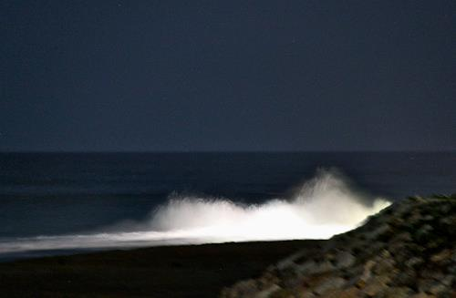 Agnes Abplanalp, Night Wave, Landscapes: Sea/Ocean, Nature: Water, Expressionism