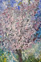 Agnes-Abplanalp-Landscapes-Spring-Times-Spring-Modern-Age-Impressionism-Pointillism