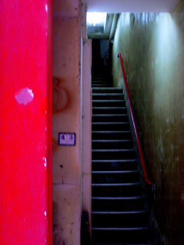 Agnes Abplanalp, Red Entrance Hong Kong, Buildings: Houses, Interiors: Cities, Contemporary Art, Abstract Expressionism