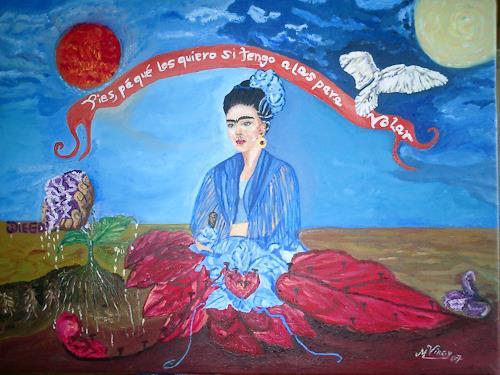 Virgy, Homage to  Frida kahlo, Miscellaneous, Symbol, Post-Surrealism