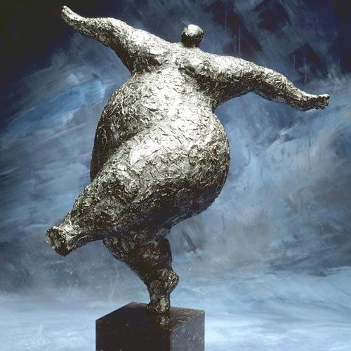 wim heesakkers, BALANCE 23, People: Women, Emotions: Joy, Expressive Realism, Abstract Expressionism