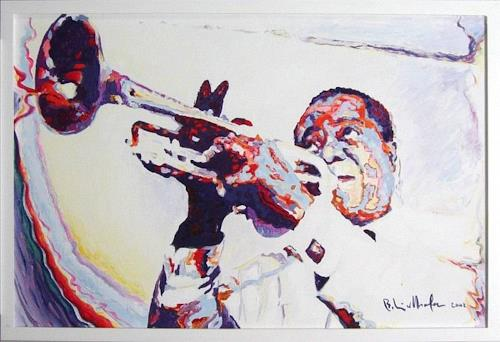 beatus kirchhofer, Louis Armstrong, Music: Musicians, Contemporary Art, Expressionism