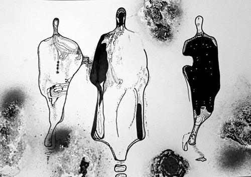 Mirta Benavente, Seres Contemporáneos 7, People, Contemporary Art