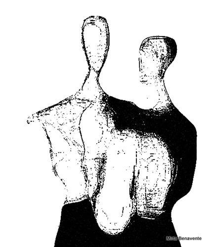 Mirta Benavente, Seres Contemporáneos 13, People, Abstract art, Contemporary Art, Abstract Expressionism