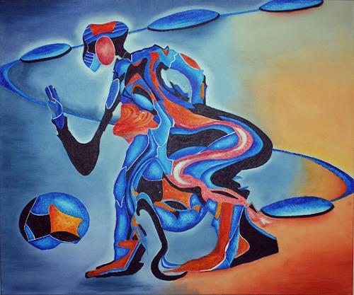 Mirta Benavente, inquieta2, Abstract art, Expressionism
