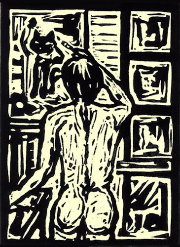 Günter Limburg, Ohne Titel, Erotic motifs: Female nudes, Neo-Expressionism