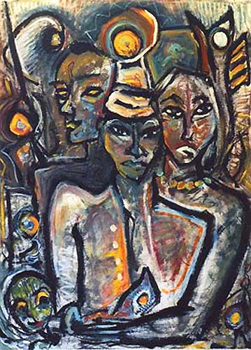 Günter Limburg, no title, People: Group, Expressionism