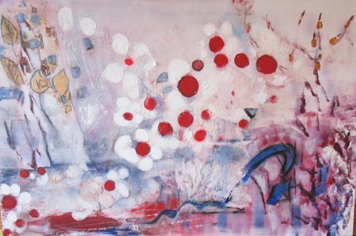 Andrea Finck, Japanische Kirschblüten, Plants: Flowers, Fantasy, Contemporary Art