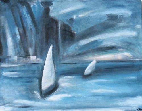 Andrea Finck, Sailing, Landscapes: Sea/Ocean, Sports, Contemporary Art