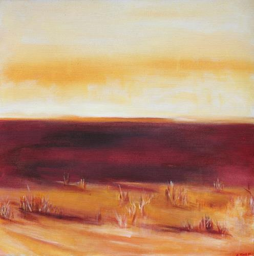 Andrea Finck, Wüstensteppe, Landscapes: Plains, Miscellaneous, Contemporary Art