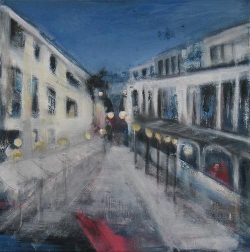Andrea Finck, Sunset Boulevard, Architecture, Buildings: Houses, Impressionism