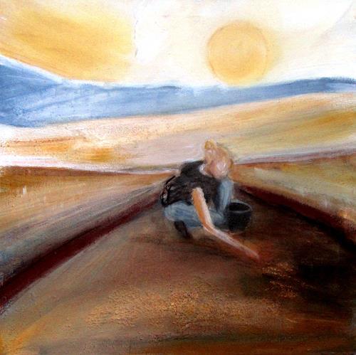 Andrea Finck, Im Suchschnitt, Miscellaneous, Landscapes, Spurensicherung, Expressionism