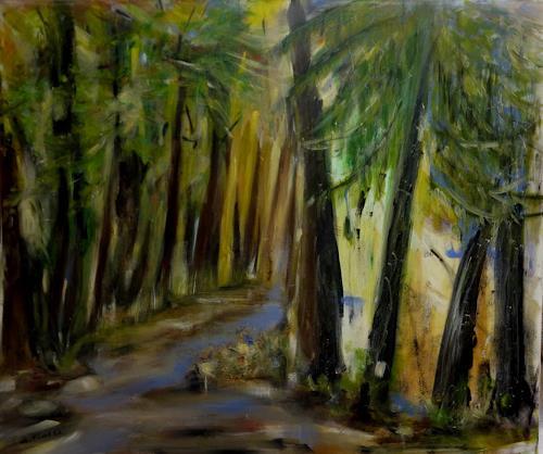 Andrea Finck, Ein Gefühl für Wald oder Hambacher Forst, Landscapes: Summer, Nature: Wood, Expressionism