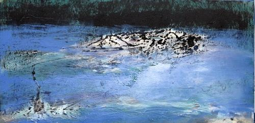Andrea Finck, Fishing, Nature: Water, Landscapes: Sea/Ocean, Abstract Art, Abstract Expressionism