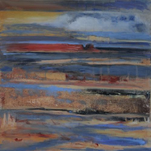 Andrea Finck, Nordseeinsel, Landscapes: Sea/Ocean, Nature: Water, Expressive Realism