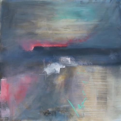 Andrea Finck, Alpenglühen, Miscellaneous Landscapes, Abstract art, Contemporary Art, Expressionism