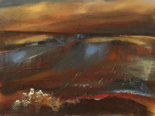 Andrea Finck, Landschaft 2050, Miscellaneous Landscapes, Nature, Contemporary Art, Expressionism