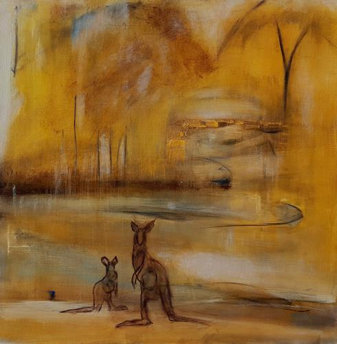 Andrea Finck, Kangaroo, Landscapes: Summer, Animals: Land, Contemporary Art
