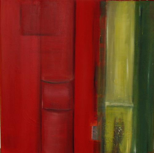 Andrea Finck, Bamboo, Plants: Trees, Abstract art, Contemporary Art