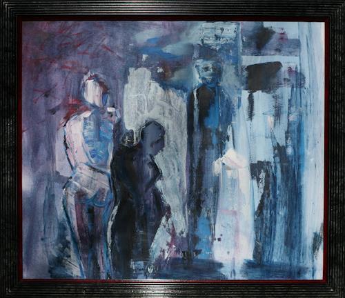 Andrea Finck, Figurengruppe blau, Miscellaneous, People: Group, Contemporary Art