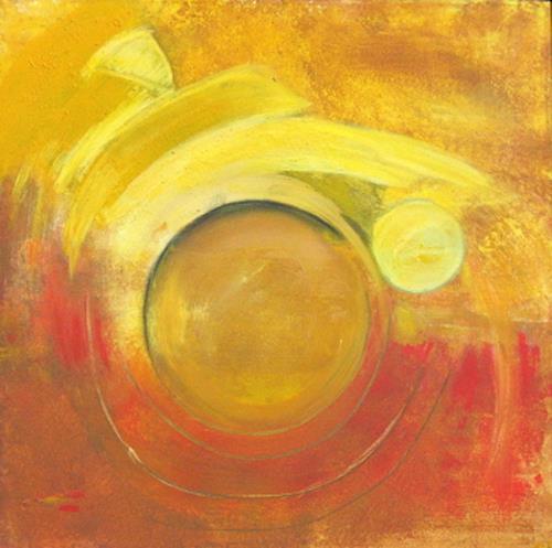 Andrea Finck, Auf`n Sprung, Abstract art, Movement, Contemporary Art
