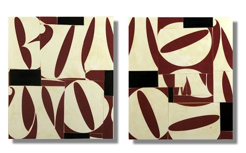 cecil touchon, Fusion Series #2484 & #2485, Abstract art, Abstract art, De Stijl