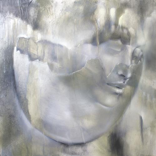 Annette Schmucker, Portrait und Eierschale, People: Portraits, Still life