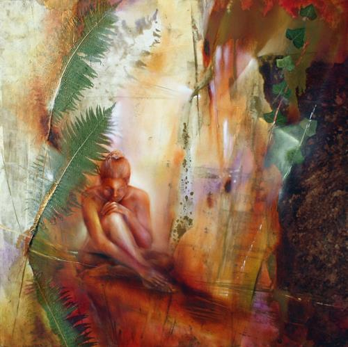 Annette Schmucker, Lara, Erotic motifs: Female nudes, Abstract art, Contemporary Art, Expressionism