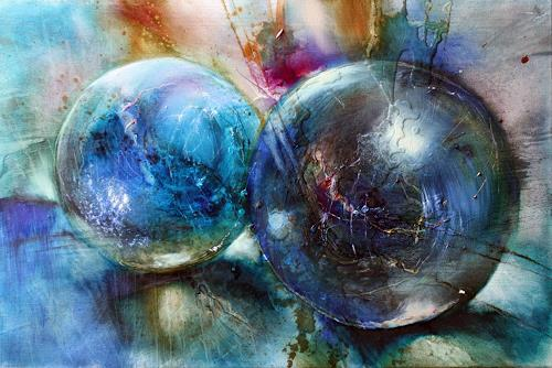 Annette Schmucker, Blaue Murmeln, Still life, Game, Contemporary Art, Expressionism