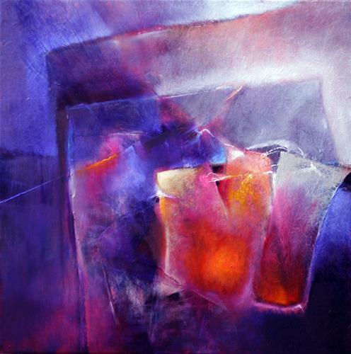 Annette Schmucker, Blau und Orange, Abstract art, Contemporary Art, Expressionism