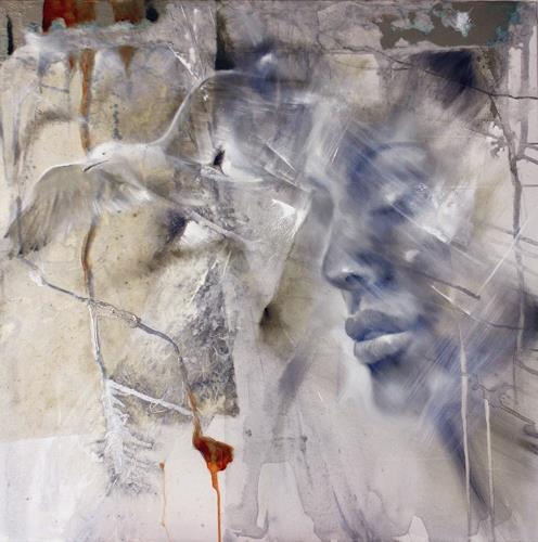 Annette Schmucker, Loslassen, People: Faces, Miscellaneous Emotions, Contemporary Art, Expressionism