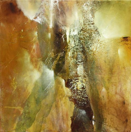 Annette Schmucker, Komposition in grün und braun, Abstract art, Contemporary Art, Expressionism