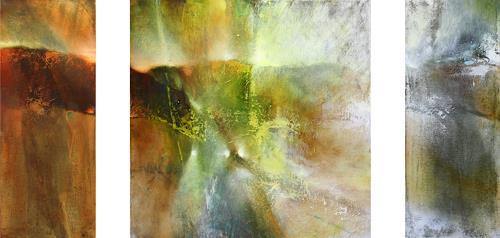 Annette Schmucker, Tryptichon, Abstract art, Contemporary Art