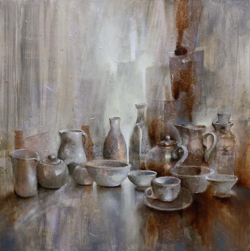 Annette Schmucker, Stillleben_, Meal, Still life, Contemporary Art, Expressionism