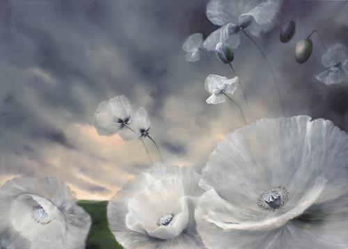 Annette Schmucker, Flüchtig, Landscapes: Spring, Plants: Flowers, Contemporary Art, Expressionism