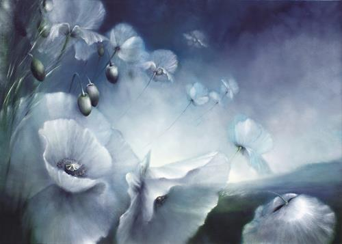 Annette Schmucker, Touch the sky, Landscapes: Spring, Plants: Flowers, Contemporary Art, Expressionism