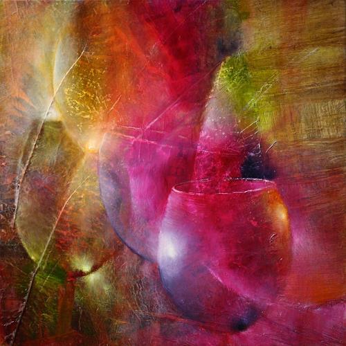 Annette Schmucker, Gläser im Licht, Still life, Meal, Contemporary Art