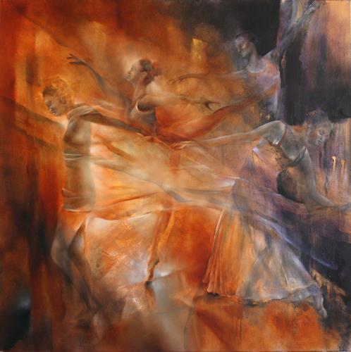 Annette Schmucker, Balance - Vier Tänzerinnen, People: Women, Sports, Contemporary Art, Expressionism