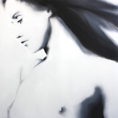 Annette Schmucker, Karla, schwarz und weiß, Erotic motifs: Female nudes, People: Faces, Contemporary Art, Expressionism