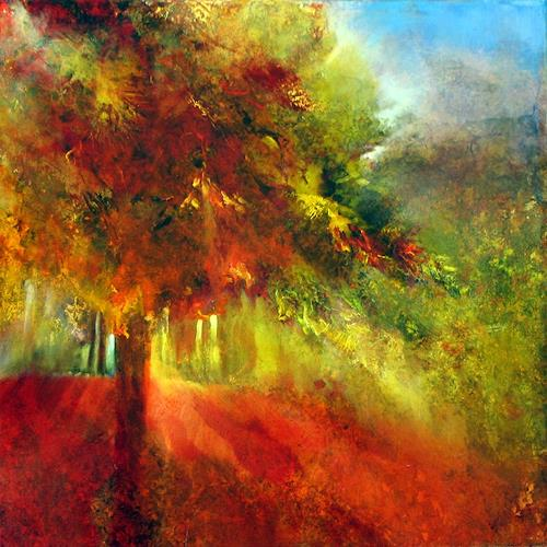 Annette Schmucker, Herbst, Harvest, Landscapes: Autumn, Contemporary Art, Expressionism