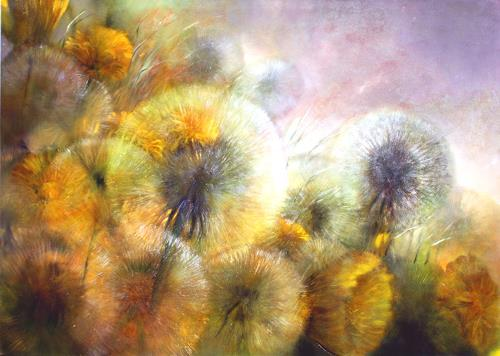 Annette Schmucker, Löwenzahn_, Landscapes: Spring, Plants: Flowers, Contemporary Art, Expressionism