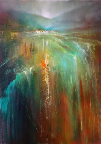 Annette Schmucker, Reiches Land, Landscapes, Landscapes: Summer, Contemporary Art, Expressionism