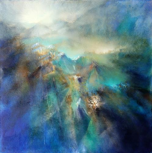 Annette Schmucker, Über allen Gipfeln, Landscapes, Abstract art, Contemporary Art, Expressionism