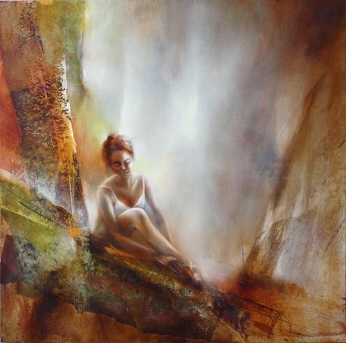 Annette Schmucker, Vor dem Tanz, People, Sports, Contemporary Art, Expressionism