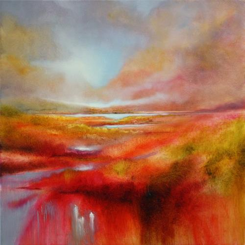 Annette Schmucker, Just let it be a perfect day, Landscapes: Mountains, Landscapes: Spring, Contemporary Art, Expressionism